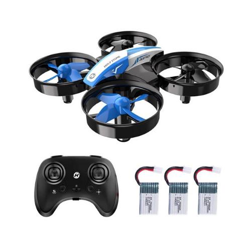 petit drone bleu d'intérieur