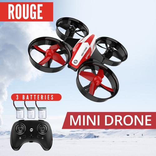 petit drone rouge avec manette